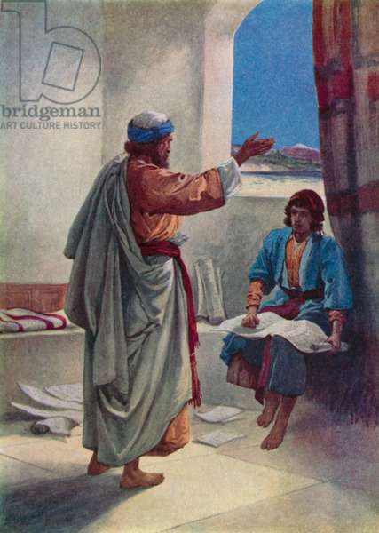 Timothy who helped Paul (colour litho)