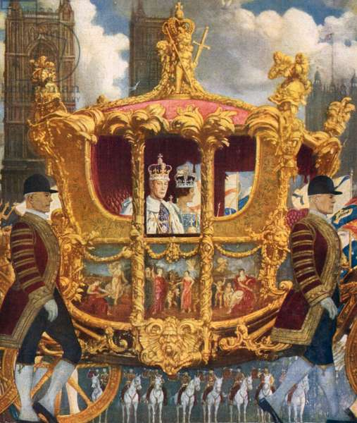 Coronation of King George VI (colour litho)