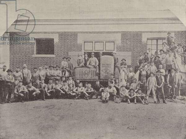A Group of Shearers (b/w photo)