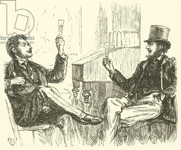 Judging champagne (engraving)