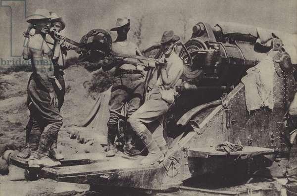 ANZAC soldiers, World War I (b/w photo)