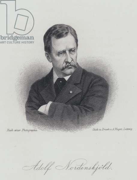 Adolf Erik Nordenskiold, Finnish geologist, mineralogist and Arctic explorer (engraving)