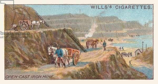 Open-cast iron mine (chromolitho)