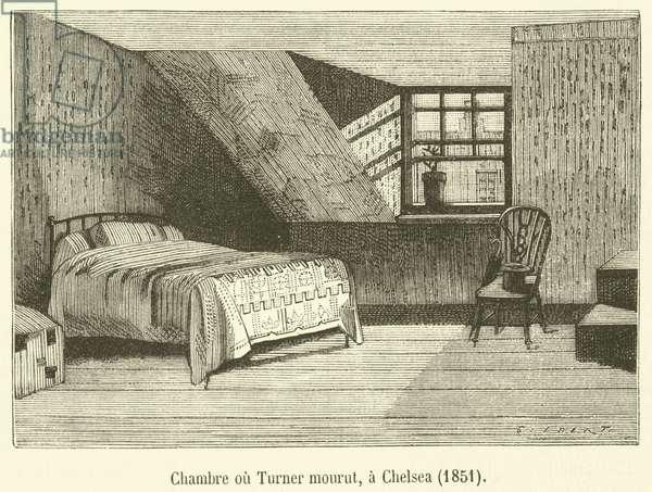 Chambre ou Turner mourut, a Chelsea, 1851 (engraving)