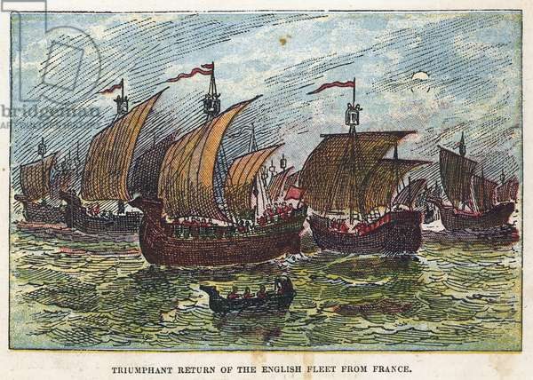 Return of the English fleet after the battle of Agincourt