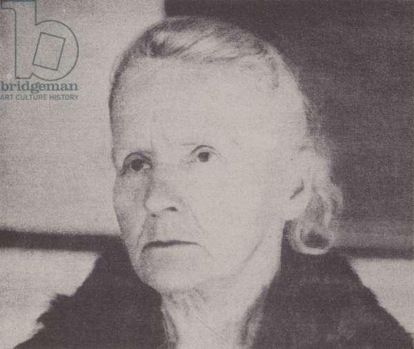 Marie Curie in 1931 (b/w photo)