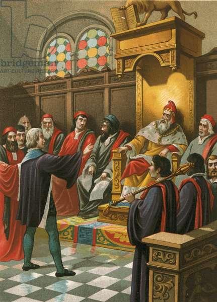 Columbus before the Senate in Venice