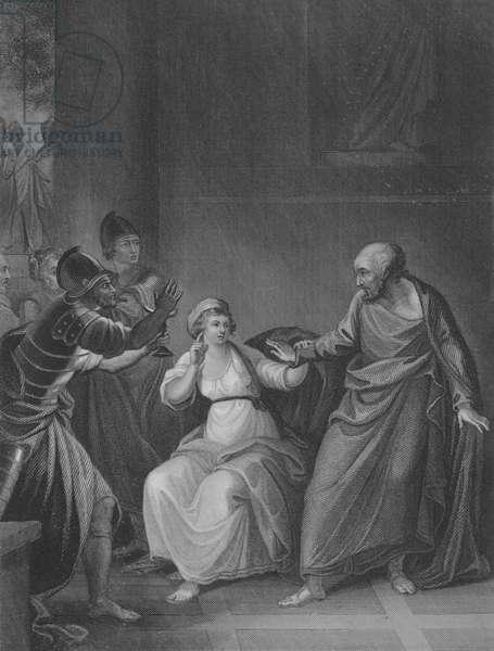 Peter denying Christ, St John 18, Verse 15-28 (engraving)