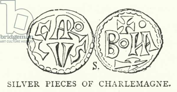 Silver pieces of Charlemagne (engraving)