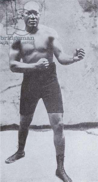 American boxer Jack Johnson, World Heavyweight Champion from 1908 until 1915 (b/w photo)