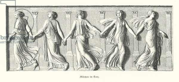 Girls dancing, Ancient Greece (engraving)