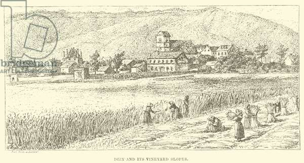 Dizy and its Vineyard Slopes (engraving)