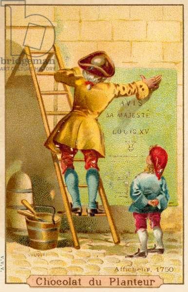 Bill poster, 1750 (chromolitho)