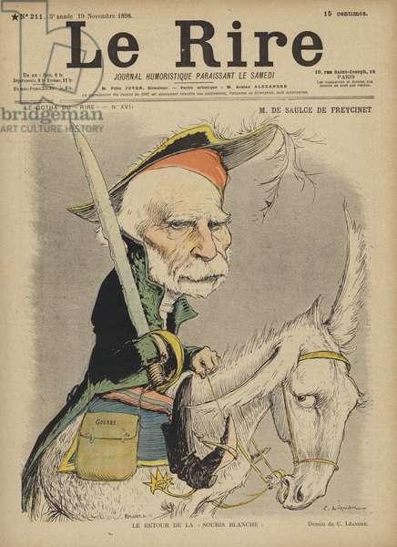 De Saulce De Freycinet, Illustration for Le Rire (colour litho)