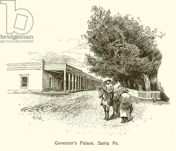 Governor's Palace, Santa Fe (engraving)