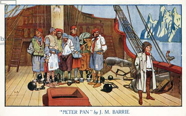 The deck of the Jolly Roger, Peter Pan (colour litho)