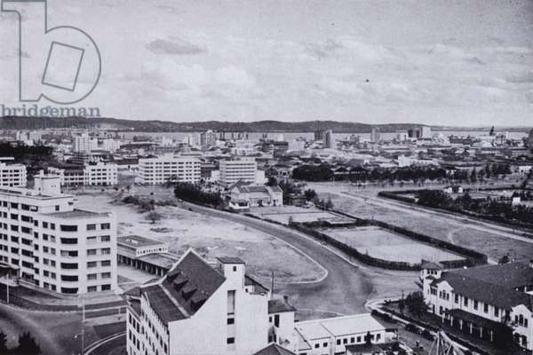 Durban from Snell Parade (b/w photo)