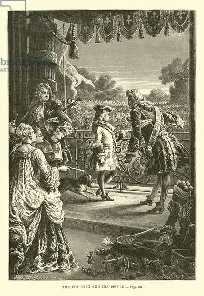The boy King and his people (engraving)