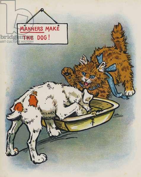 Manners Make The Dog (colour litho)