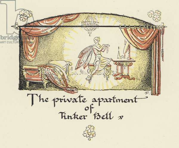 Peter Pan and Wendy: The private apartment of Tinker Bell (colour litho)