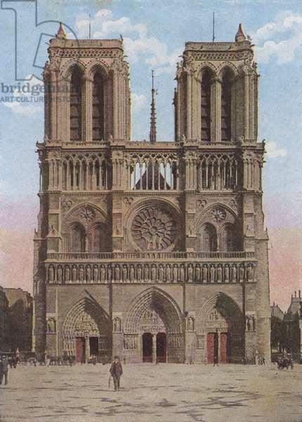 Paris, Notre-Dame (colour litho)