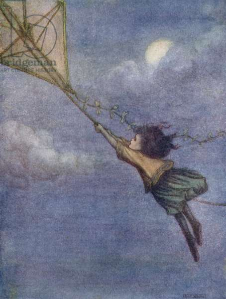 Kite to which Peter tied Wendy (colour litho)