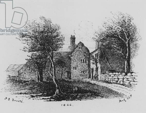 Facsimile of a sketch by Branwell Bronte (engraving)