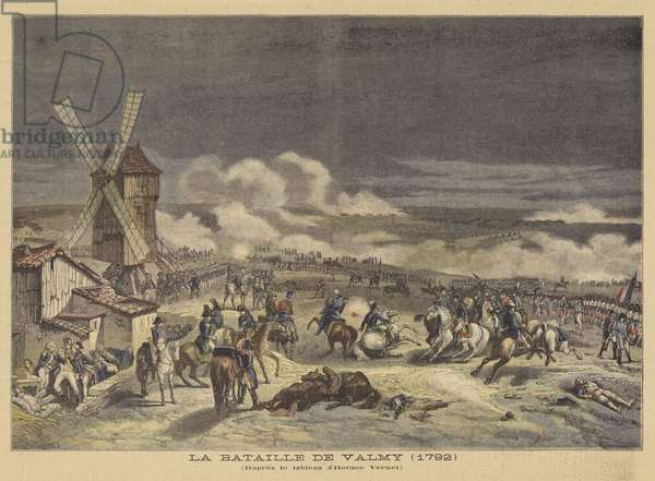 The Battle of Valmy (1792) (colour litho)