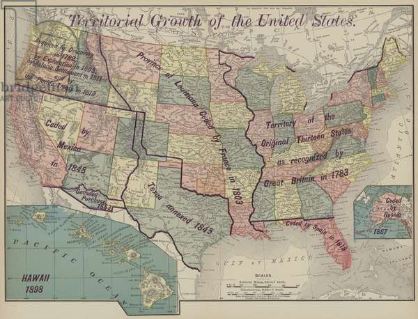 Territorial growth of the United States (colour litho)