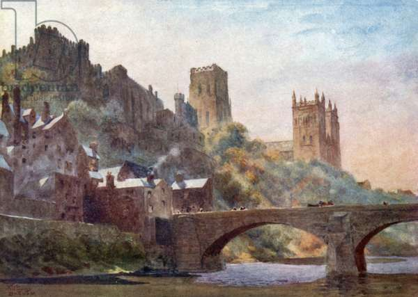Durham, Framwell Gate Bridge (colour litho)
