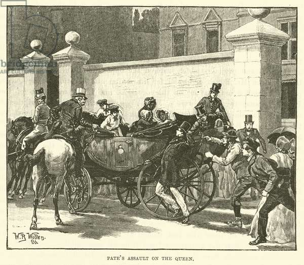 Pate's Assault on the Queen (engraving)