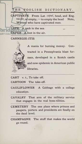 Foolish Dictionary: Carnegie-itis (litho)