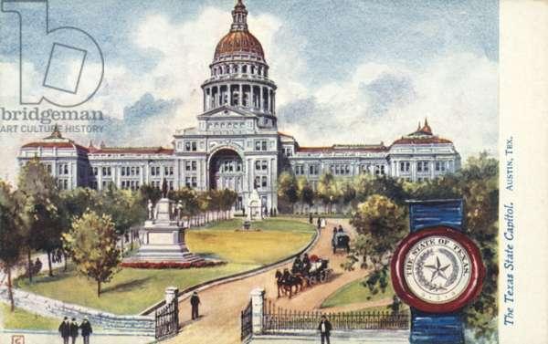 The Texas State Capitol, Austin, Texas (colour litho)