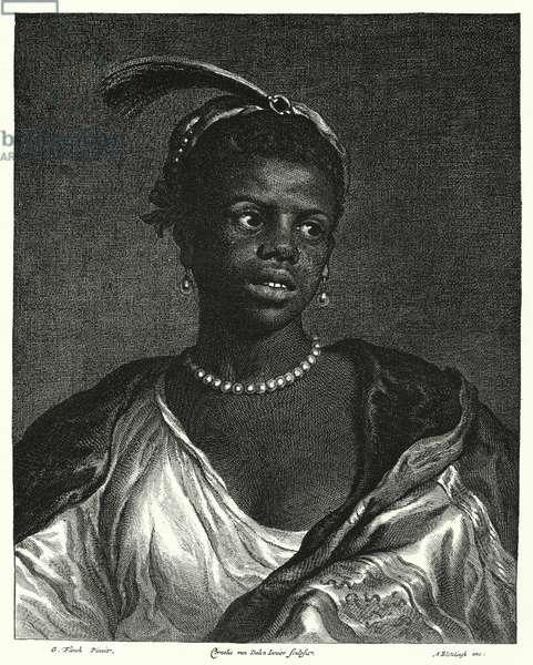 Portrait of a black woman (engraving)