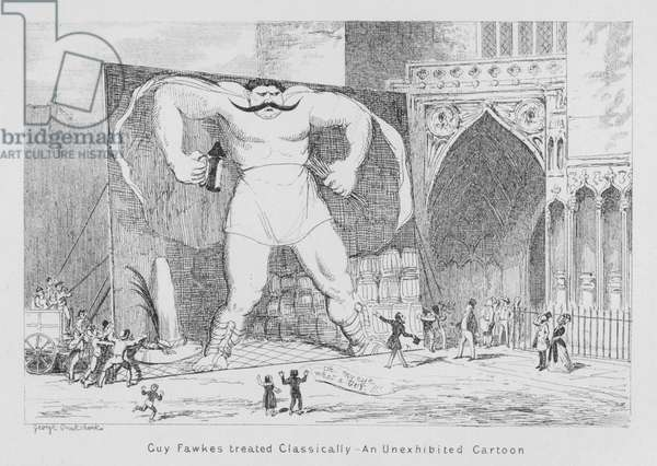 Guy Fawkes treated classically, An unexhibited cartoon (engraving)