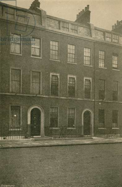 No 48 Doughty Street, Mecklenburgh Square, London, Residence of Charles Dickens, 1837-39 (b/w photo)