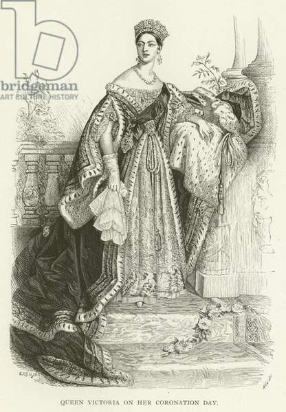 Queen Victoria on her Coronation Day (engraving)