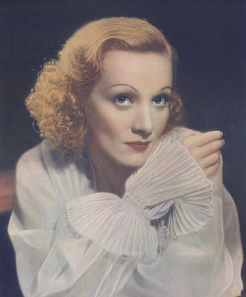 Marlene Dietrich (colour litho)