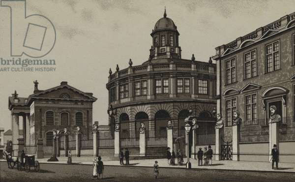 Clarendon Building, Sheldonian Theatre and Ashmolean Museum, Oxford (litho)