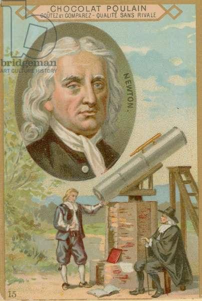 Isaac Newton (chromolitho)