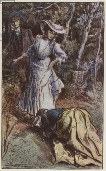 Illustration for They by Rudyard Kipling (colour litho)