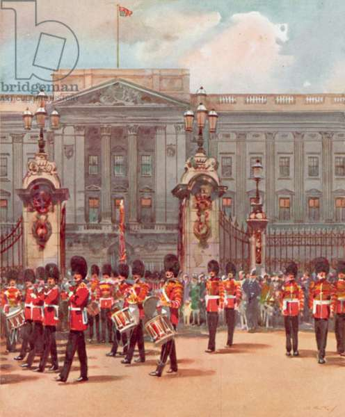 Changing the Guard (colour litho)