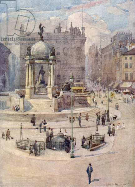 The Queen Victoria Memorial (colour litho)
