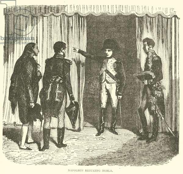 Napoleon Rebuking Morla (engraving)