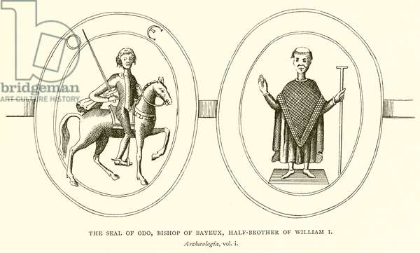 The Seal of Odo, Bishop of Bayeux, Half-Brother of William I (engraving)