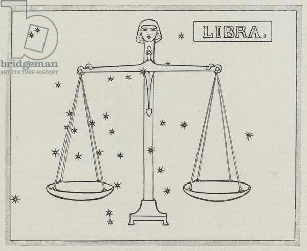 Signs of the zodiac: Libra (engraving)