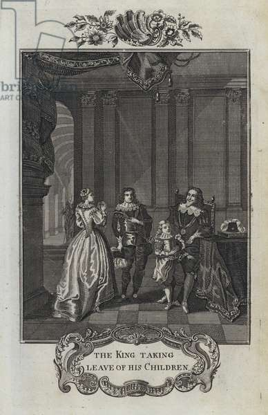 The King taking leave of his Children (engraving)