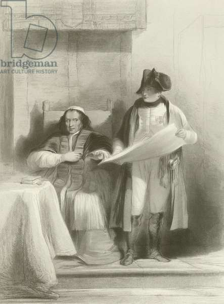 Napoleon and the Pope at Fontainebleau (engraving)