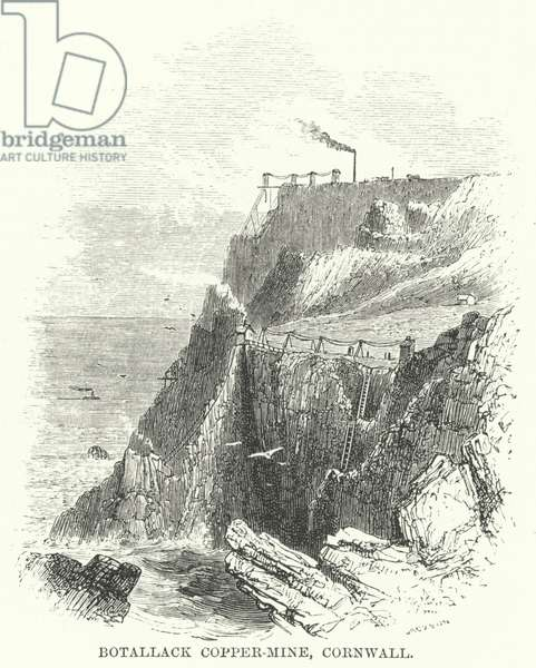 Botallack Copper-Mine, Cornwall (engraving)