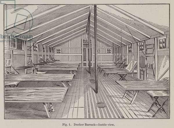 Ducker Barrack, Inside view (engraving)